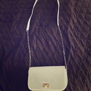 Banana Republic White cross body purse.